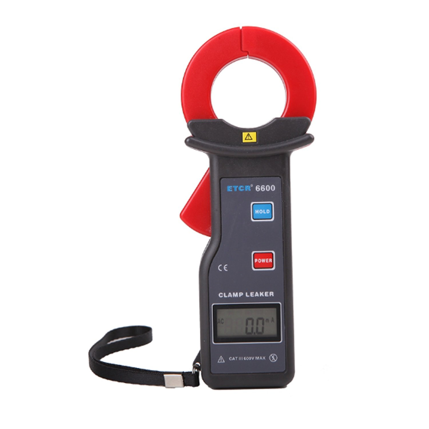 Lanlanmaoyimg Ammeter 1mA Resolution AC Leakage Current Clamp Meter with 0~600A Digital clamp Measurement RS232 Interface ETCR6600 Precision Measurement