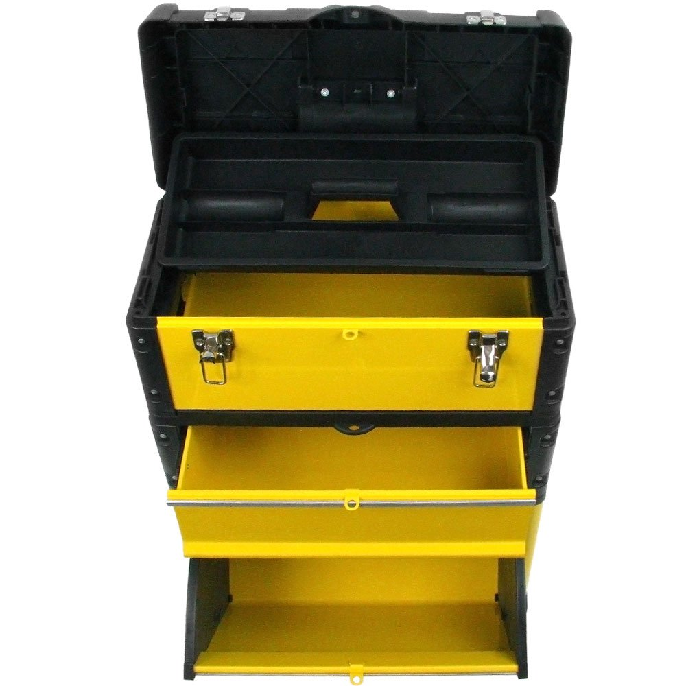 Stalwart Oversized Portable Tool Chest-3 Tool boxes Trademark Tools 75-4650