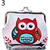 bigcity Mini Money Bag Vintage Owl Elephant Print Kiss Clasp Women Coin Purse Pouch 5# Onesize