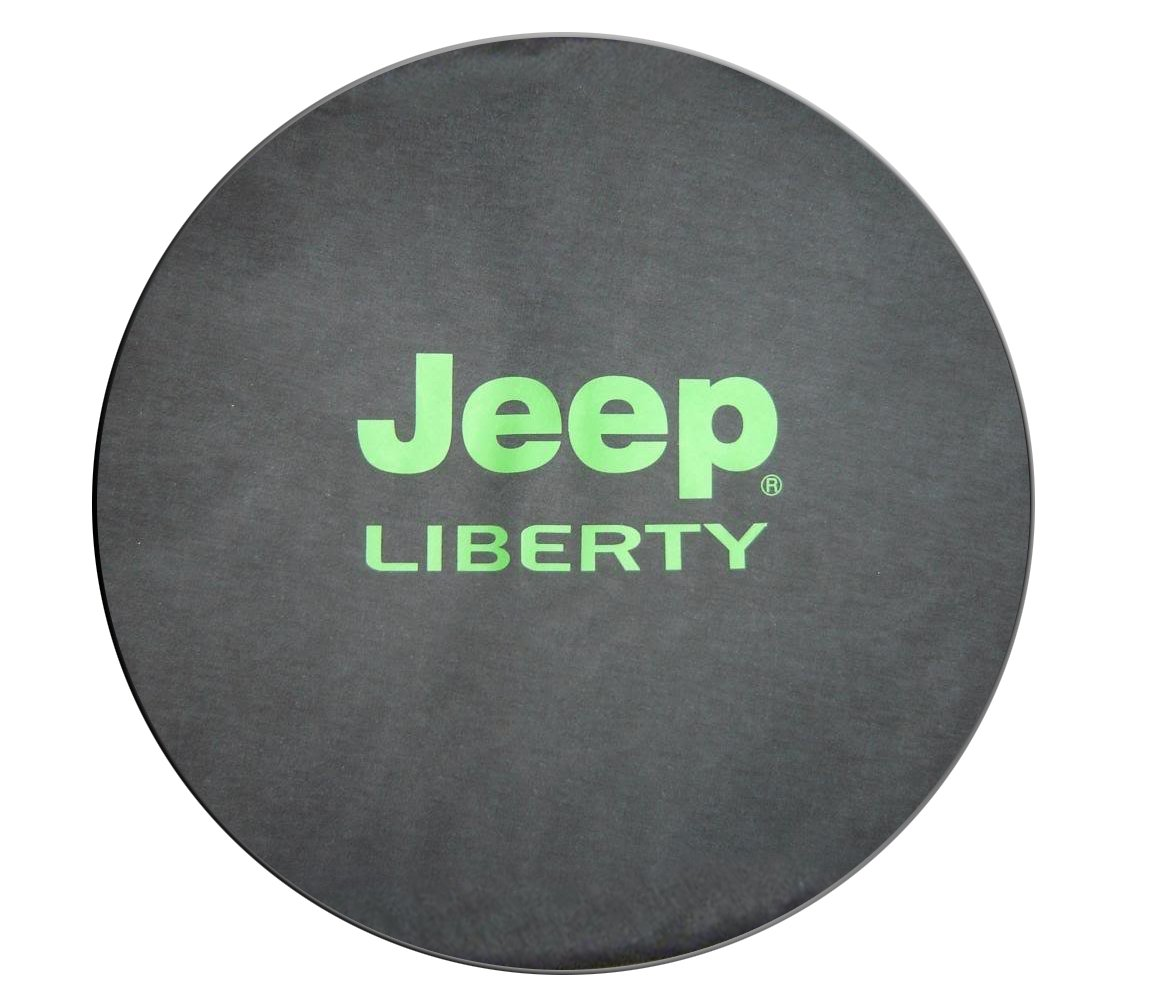 SpareCover BR-j-liberty-30-silver Brawny Series Silver on Denim 30' Heavy Duty Soft Tire Cover