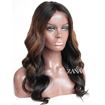 ZANA Glueless Full Lace Human Hair Wigs Body Wave Brazilian Hair Full Lace  Wigs for Black Women...