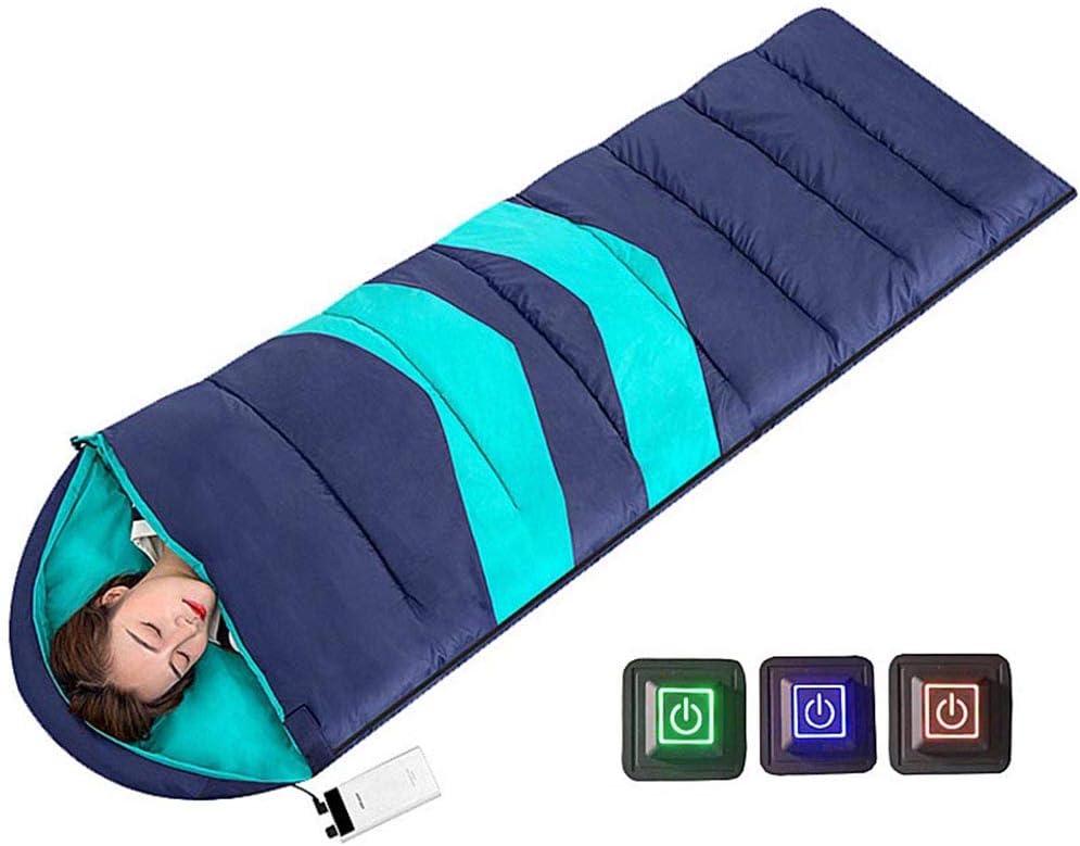 VANLAMP Calentado Saco de Dormir Niños Adultos, Invierno Rectangular Bolsa de Dormir 3 Temperatura Opcional con USB Manta Calefactora para Pesca Acampada Invierno: Amazon.es: Deportes y aire libre