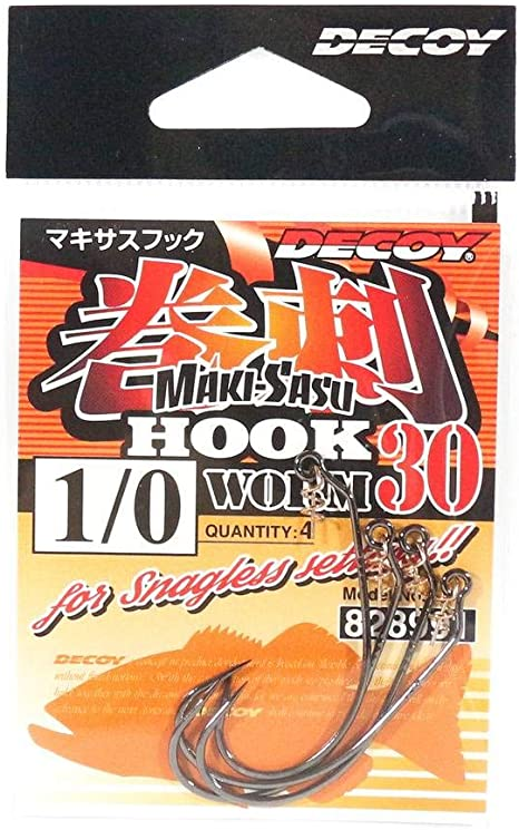 9011 Decoy Worm 30 Makisasu Worm Hooks Size 3//0