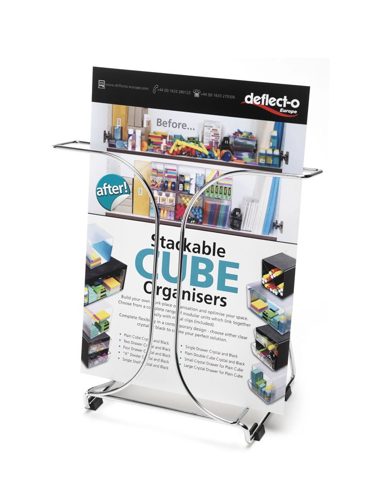 deflect-o Wire Document Holder, 1 Pocket, 9.75 x 5.5 x 9.75 Inches, Chrome (78145)