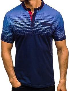 MNRIUOCII Herren Sommer Polo Shirt Kurzarm Sweatshirt Poloshirt Kurzarmshirt Sportshirt T-Shirt Freizeit Hemd Slim Fit Einfarbige Casual Top Polohemd Steigung Farbe Freizeithemd