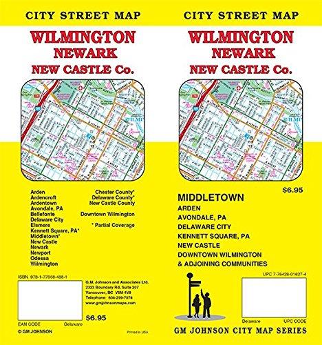 Wilmington / Newark / New Castle County, Delaware Street Map (Map Counties Delaware)