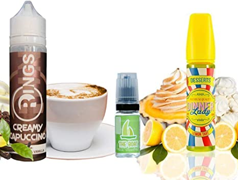E Liquid Rings Creamy Capuccino 50ml - 70vg 30pg + E Liquid Dinner Lady Lemon Tart 50ml -
