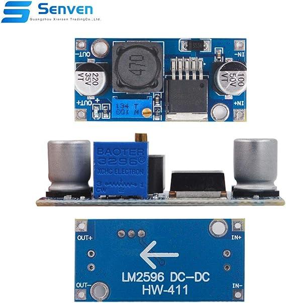 Senven 12 Pack Hochwertige Lm2596s Dc Bis Dc Hochleistungs Spannungsregler 3 0 40v Zu 1 5 35v Netzteil Buck Converter Diy Einstellbare Stromversorgung Modul Lm2596 Baumarkt