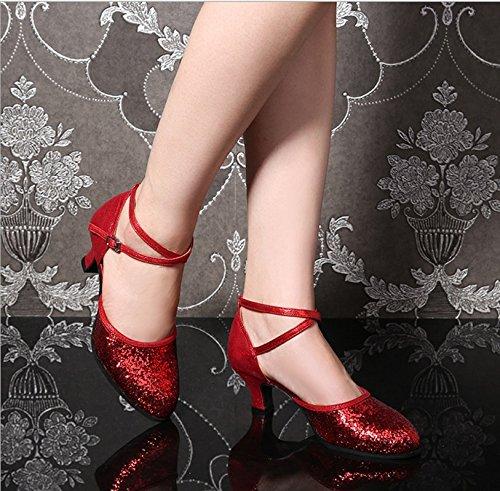 37 da scarpe scarpe che balla Adulto liscio amp; Square latino Rosso per le scarpe Dance donna ballo Color da ballo donne da Rosso TMKOO Estate scarpe Dimensione Xz4Cwxwq