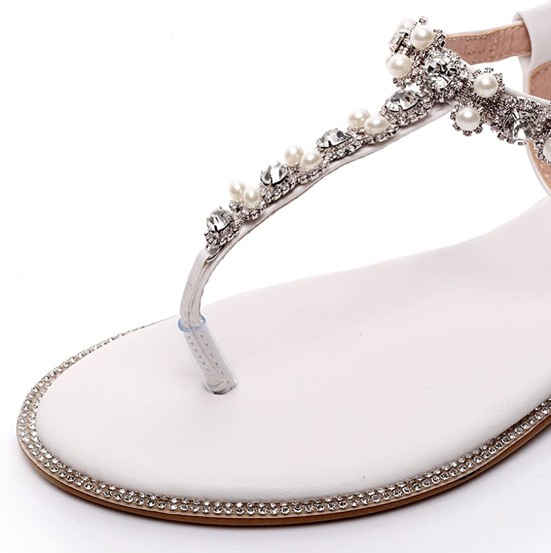 Amazon Com Luxveer Beach Wedding Shoes Wedding Flats Bridal