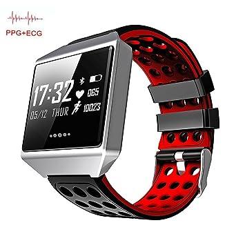 OOLIFENG Actividad Tracker Relojes Pulsómetros Pulsera Deportiva Para Iphone Android Teléfonos,Red: Amazon.es: Deportes y aire libre