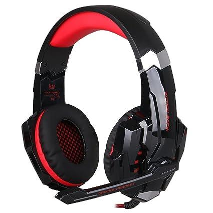 KOTION EACH G9000 USB Estéreo Auriculares de Juego de Rey con Micrófono Control de Volumen Luz