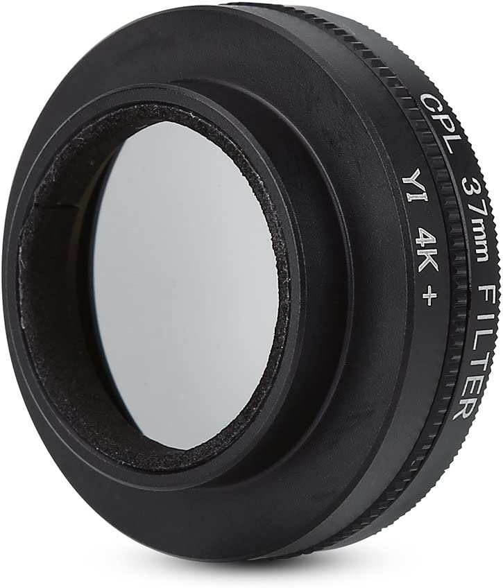37mm Circular Polarizer CPL Lens Filter with Adapter Ring Protective Cap for Xiaomi Yi 4k//4k+//Lite Action Cameras