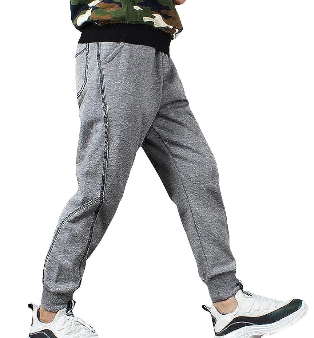 Pandapang Big Boys Casual Stitching Sports Elastic Waist Sweatpants Pants