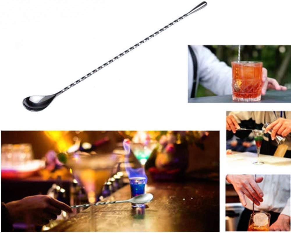 2 St/ück Barloeffel Kaffee Loeffel Cocktailr/ührer R/ührst/äbchen Kaffeer/ührer Cocktail Stirrer Swizzle Stick Stirrer Edelstahl Cocktaill/öffel R/ührer