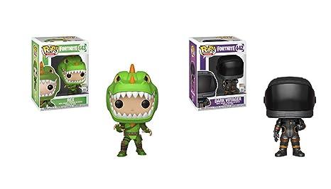 Amazon.com: Funko Pop! Fortnite Set of 2 - Rex and Dark ...