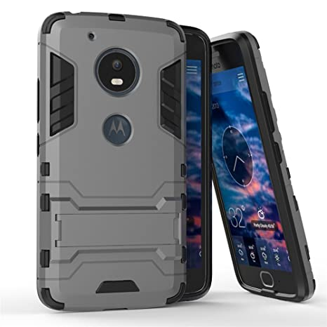 Motorola Moto G5 Funda, MHHQ 2in1 Armadura Combinación A Prueba de ...