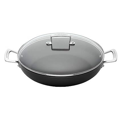 Le Creuset Cacerola Baja de Aluminio, Anodizado, Negro, 26 cm