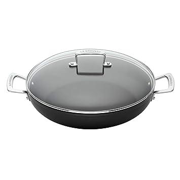 Le Creuset Cacerola Baja de Aluminio, Anodizado, Negro, 26 cm: Amazon.es: Hogar
