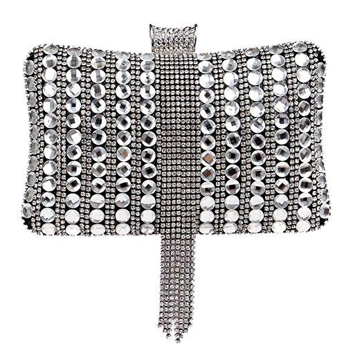 à black diamant 5 bourse sac cm fête femmes cristal soirée gland mariage x dîner 6 x main 20 aux sac 12 de f1wxB7Cnq