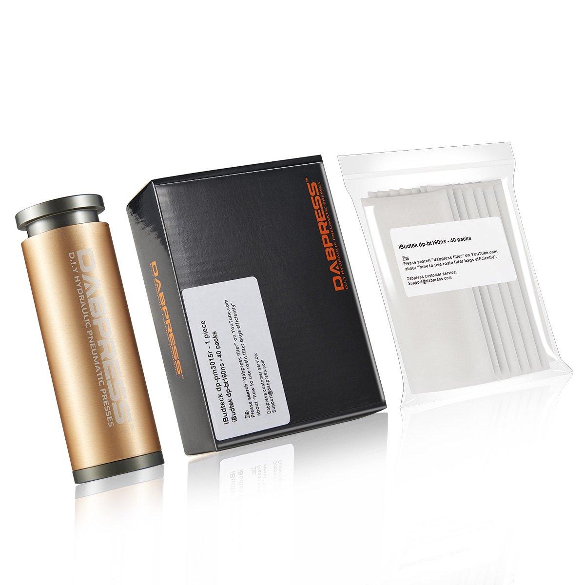 Cylinder Pre Press Mold + 40 Packs Filter Bags [2x4 Inch 160 Micron] | Dabpress dp-pm3015r + dp-bt160ns mg-bundle-bt160ns-pm3015r