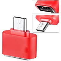 Storite Red Little Square Otg Adapter For Smartphones & Tablets
