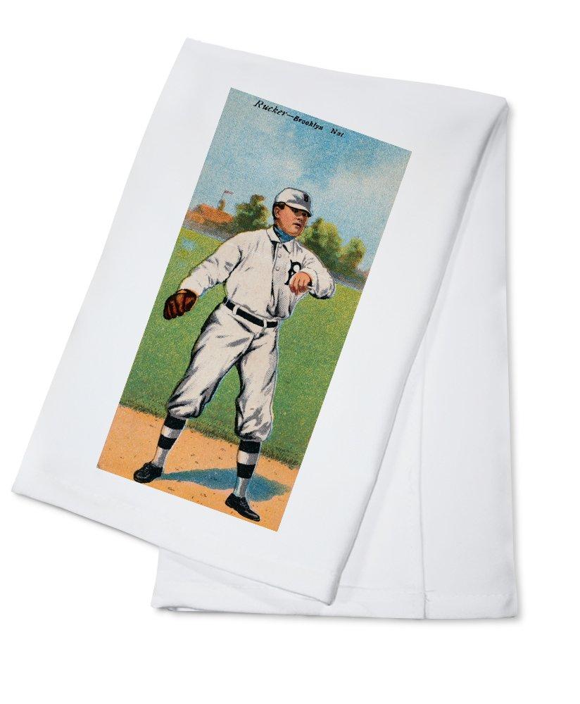 ブルックリンドジャース – G N Rucker – 野球カード Cotton Towel LANT-21925-TL B018BBPQTY  Cotton Towel