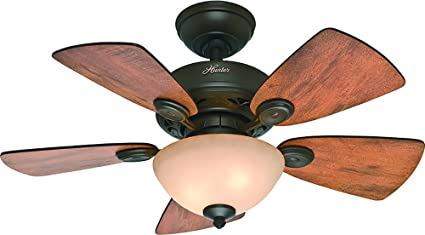 Hunter 52090 watson 34 ceiling fan new bronze hunter small hunter 52090 watson 34quot ceiling fan new bronze aloadofball Image collections