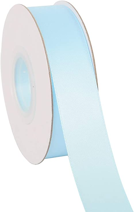 029-White), Set For Gift Wrapping, Party Decor, Sewing Applications, Wedding and Craft Ribbonitlux 3 wide Double Face Satin Ribbon 25 Yards
