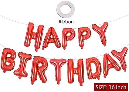 Amazon.com: Globos de felicitación de cumpleaños, cartel de ...