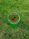 DOUBLE Sided!! No Poop Dog Signs   Do Not Poop / Stop Dogs