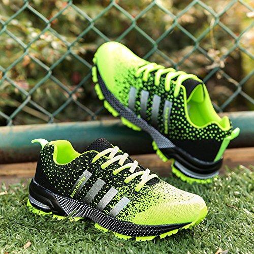 Hommes Femmes Sport Chaussures Running Basketball Summer Sneakers Vert 46