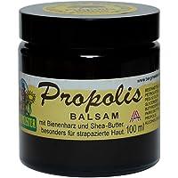 Propolis-Balsam mit Bienenharz und Shea-Butter für Wund- und Narbenpflege, hervorragende Qualität - 100 ml Glastiegel