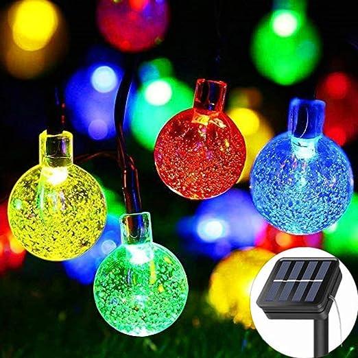 Guirnalda de luces solares para jardín, 8 modos, funciona con ...