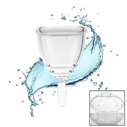 Copa Menstrual, Segura Y Saludable, Toalla Sanitaria Impermeable Portátil, Copa Menstrual Transparente,