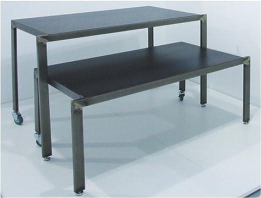 Mesa Industrial diseño con Piano de Chapa Bruto de 128 x 60 x 90 ...