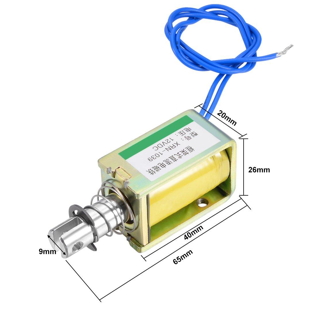 uxcell DC 12V 10N 10mm Pull Type Open Frame Solenoid Electromagnet XRN-0730