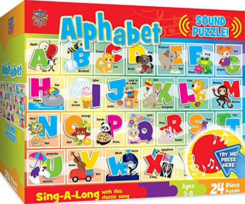 MasterPieces Sing-A-Long Alphabet - 24 Piece Kids Puzzle with 1 Minute Sound Chip