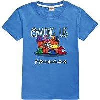 Camiseta Divertida para niños Among Us Gaming Impostor Character 100% algodón Niños Niñas Camiseta Viral Gamer Top-13…