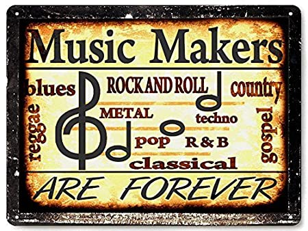 Music Studio Band metal Sign rock blues / mancave Vintage style ...