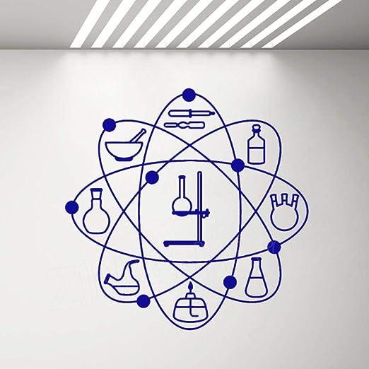 Bomdow Química Vinilo Tatuajes De Pared Laboratorio Átomo Ciencia ...