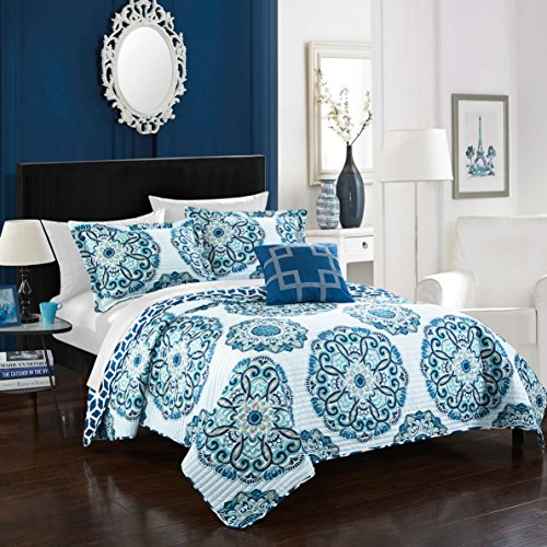 Chic Home Floral 8 Piece Embroidered Comforter Set