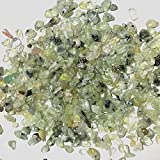 NewDreamWorld's Natural crystal prehnite aquarium gravel approx. 5mm-8mm little prehnite stones fit fish tank decoration materials,Mini aquarium accessories (3oz)