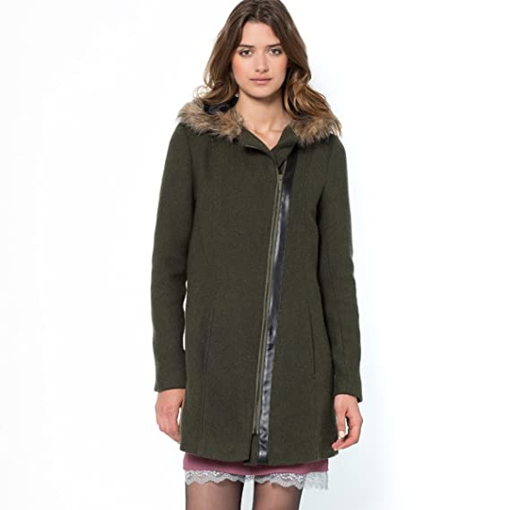 La Redoute - Abrigo - para mujer verde Dark Khaki Green 34: Amazon.es: Ropa y accesorios