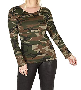 98baf279ba4 GirlsWalk Women s Plus Size Long Sleeves Leopard Animal Print Stretchy Top  (X-Large