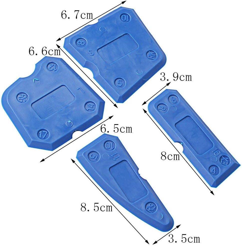 der Fugenabzieher f/ür die optimale Silikonfuge von k/ör4u Profi Fugengl/ätter im praktischen 4er Set