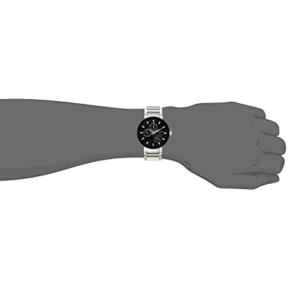 Bulova Men's Stainless Steel Black Dial Watch