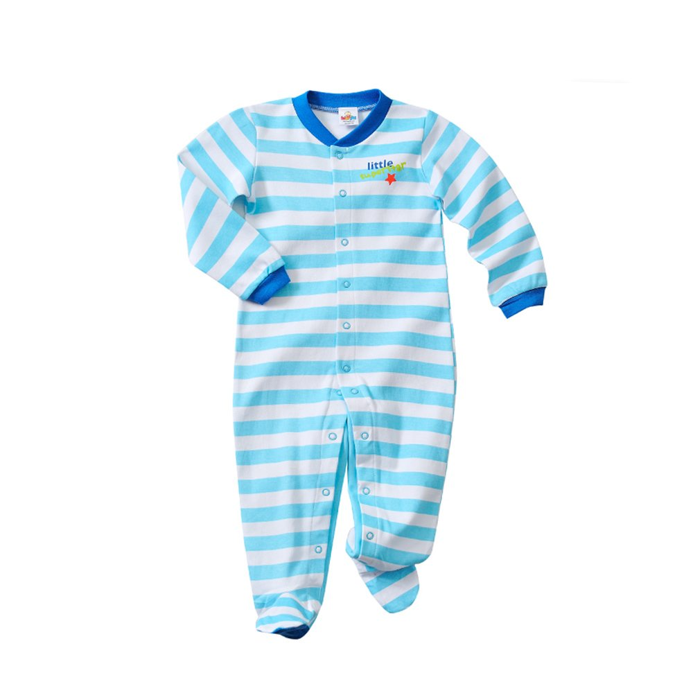 GORBAST Baby Cotton Footed Little Boy Jumpsuits Sleeper Toddler Pajamas Infant Outfits (12-18Months, 01)