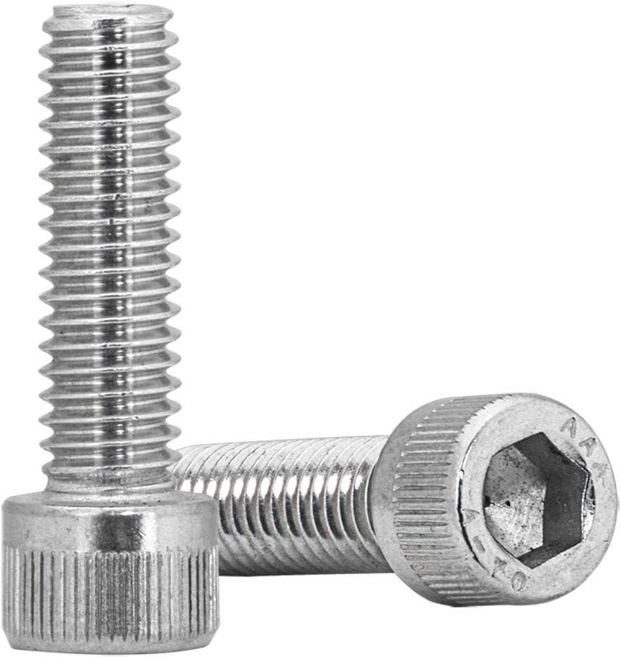 paquete de 10 unidades Tornillos Allen de 2 mm M2 x 3 mm para llave Allen de acero inoxidable A2 DIN 912