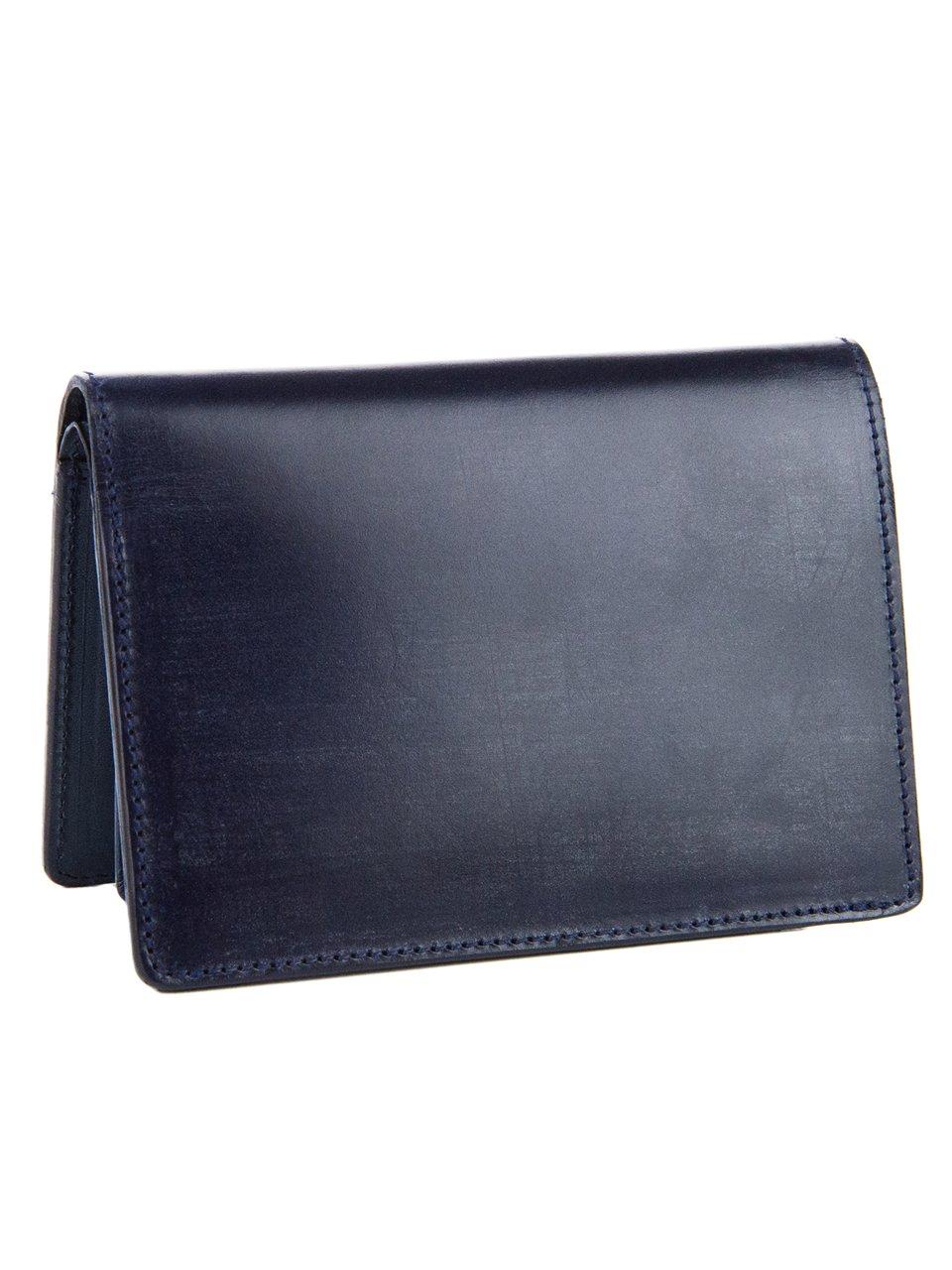 [コルボ] CORBO. 二つ折財布 純札 (ミドルサイズ) 1LD-0235 -face Bridle Leatherフェイス ブライドルレザー シリーズ B0107M1LXU ネイビー ネイビー